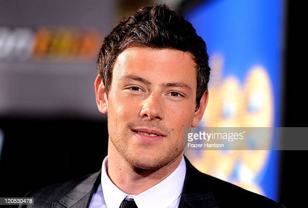 Actor Cory Monteith arrives at the Premiere Of Twentieth Century Fox's Glee The 3D Concert Movie at the Regency Village Theater on August 6 2011 in...
