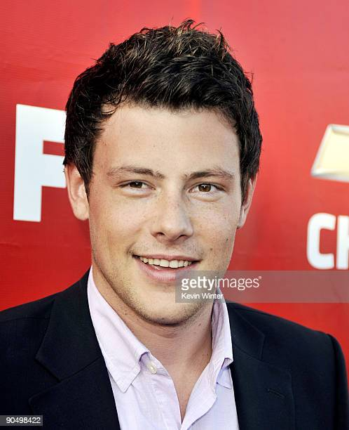 Actor Cory Monteith arrives at the premiere screening of Fox TV's Glee at Willow School on September 8 2009 in Culver City California