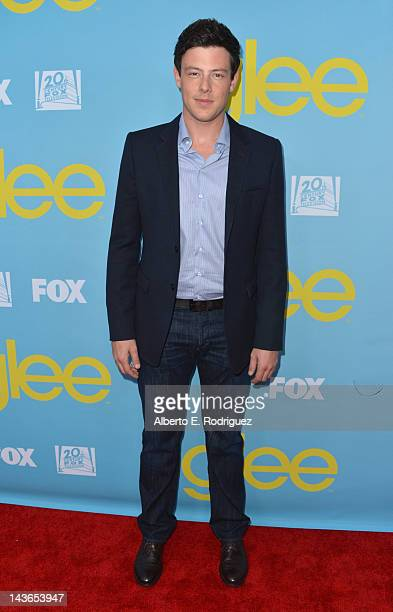Actor Cory Monteith arrives to The Academy of Television Arts Sciences' screening of Fox's 'Glee' at Leonard Goldenson Theatre on May 1 2012 in North...