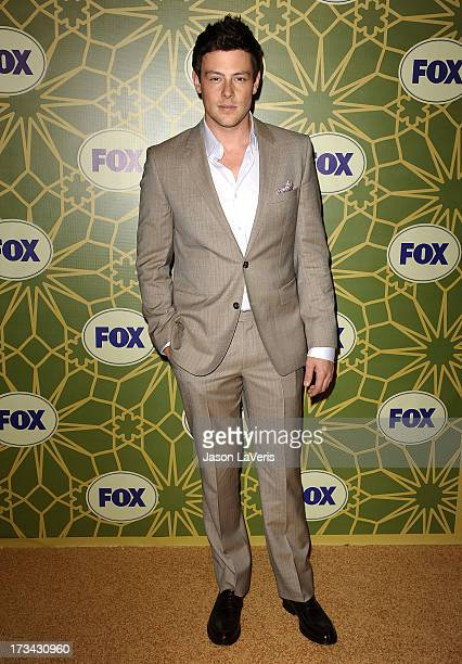 Actor Cory Monteith attends the FOX AllStar TCA Party at Castle Green on January 8 2012 in Pasadena California