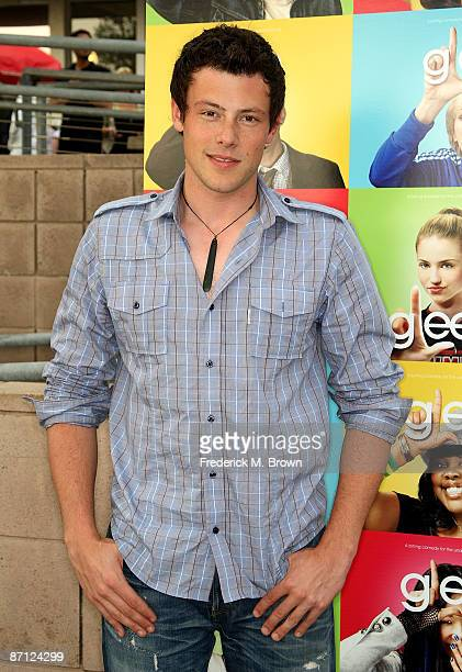 Actor Cory Monteith attends the screening of Glee at the Santa Monica High School Amphitheater on May 11 2009 in Santa Monica California