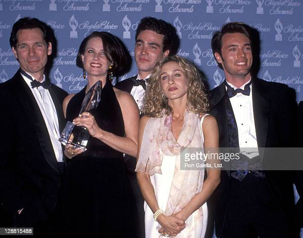 Actor Cotter Smith actress Debrah Farentino actor Jon Tenney actress Sarah Jessica Parker and actor James Wilder attend the 17th Annual People's...