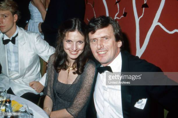 Actor couple Helmut Foernbacher and Kristina Nel visiting the Filmball, Germany, 1980s.