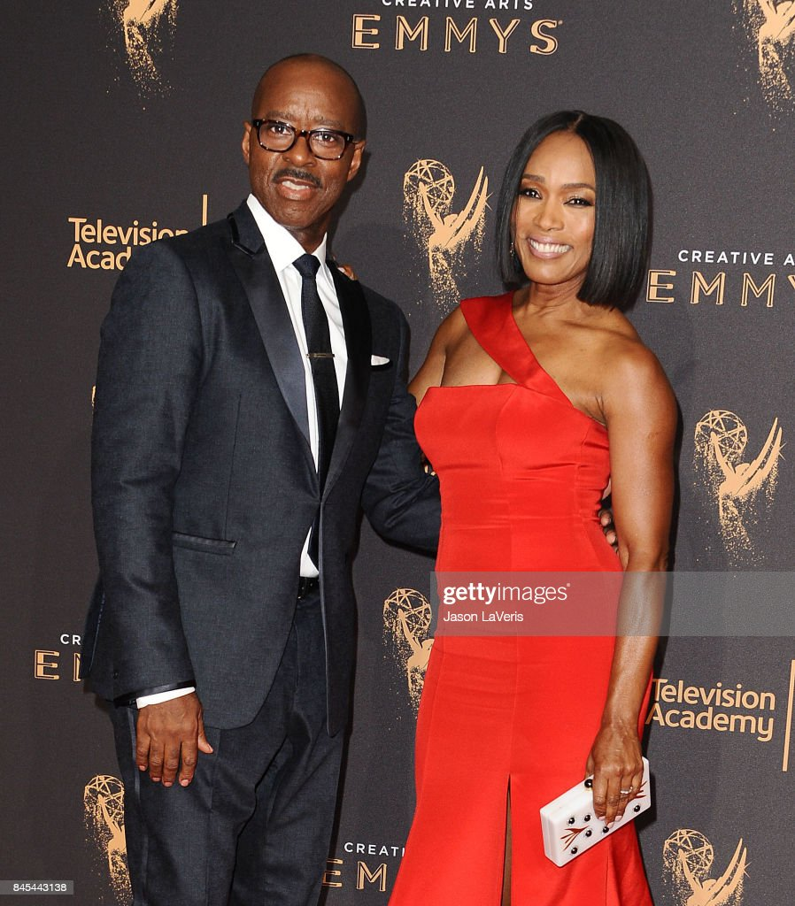 Actor Courtney B. Vance and actress Angela Bassett attend the 2017 Creative Arts Emmy Awards at Microsoft Theater on September 10, 2017 in Los Angeles, California.