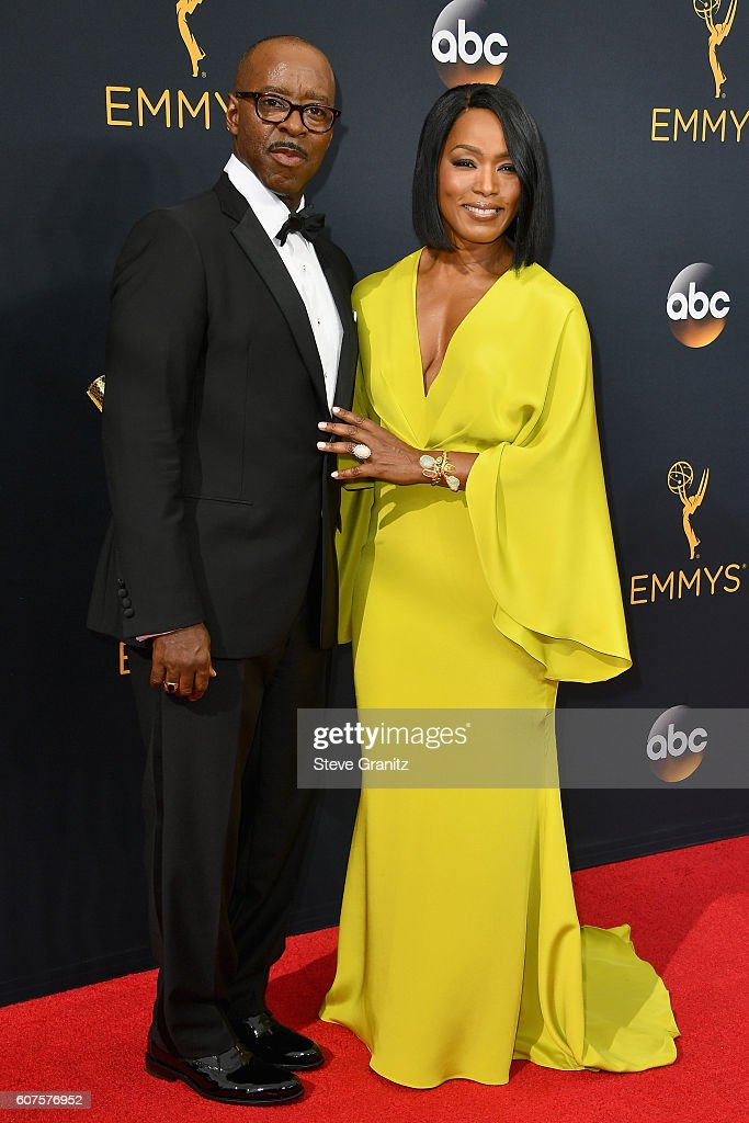 Actor Courtney B. Vance (L) and actress Angela Bassett attend the 68th Annual Primetime Emmy Awards at Microsoft Theater on September 18, 2016 in Los Angeles, California.