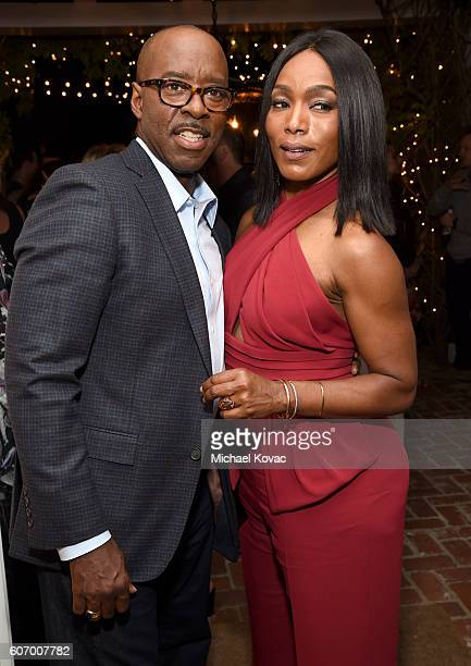 Actor Courtney B Vance and actress Angela Bassett attend the Gersh Emmy Party presented by World Class Spirits at a private residence on September 16...