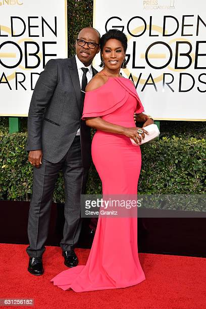 Actor Courtney B Vance and actress Angela Bassett attends the 74th Annual Golden Globe Awards at The Beverly Hilton Hotel on January 8 2017 in...