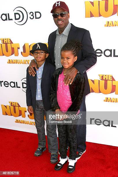 Actor Courtney B Vance son Slater Vance and daughter Bronwyn Vance attend the premiere of Open Road Films' The Nut Job held at the Regal Cinemas LA...