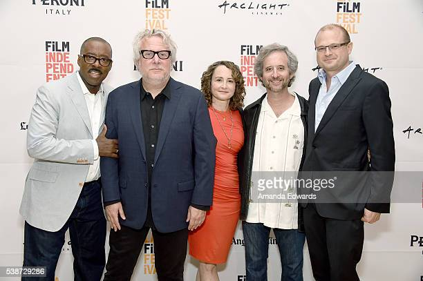 Actor Courtney B Vance writer/producer Larry Karaszewski producer Nina Jacobson writer/producer Scott Alexander and producer Brad Simpson attend An...