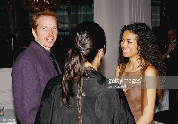 Actor Courtney Gains and actress Jennifer Freeman mingle during the 53rd Annual ACE Eddie Awards at the Beverly Hilton Hotel on February 23 2003 in...