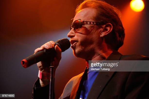 Actor Courtney Gains performs with the AllStar Jam Band at the 'Unity For Peace' benefit concert held at the House Of Blues on March 12 2010 in Los...