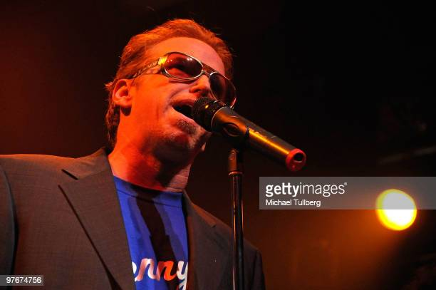 Actor Courtney Gains performs with the All-Star Jam Band at the 'Unity For Peace' benefit concert, held at the House Of Blues on March 12, 2010 in...
