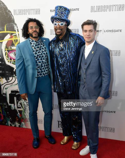 Actor CoWriter Daveed Diggs Musician Bootsy Collins and Actor CoWriter Rafael Casal attend the Premiere of Summit Entertainment's 'Blindspotting' at...