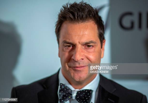 Actor Craig DiFrancia arrives to attend the Elton John AIDS Foundation Academy Awards Viewing Party in West Hollywood, California, on February 24,...