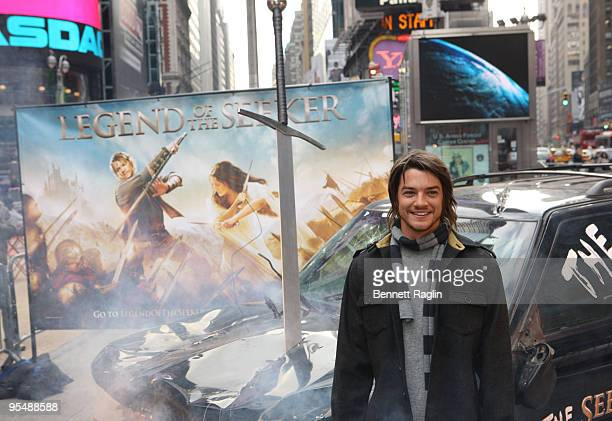 Actor Craig Horner attends the 'Legend of The Seeker' sword of the truth unveiling at Military Island Times Square on November 5 2009 in New York City