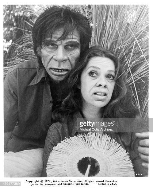 Actor Craig Littler and actress Antoinette Bower in a scene from the Scifi movie 'Superbeast' circa 1972