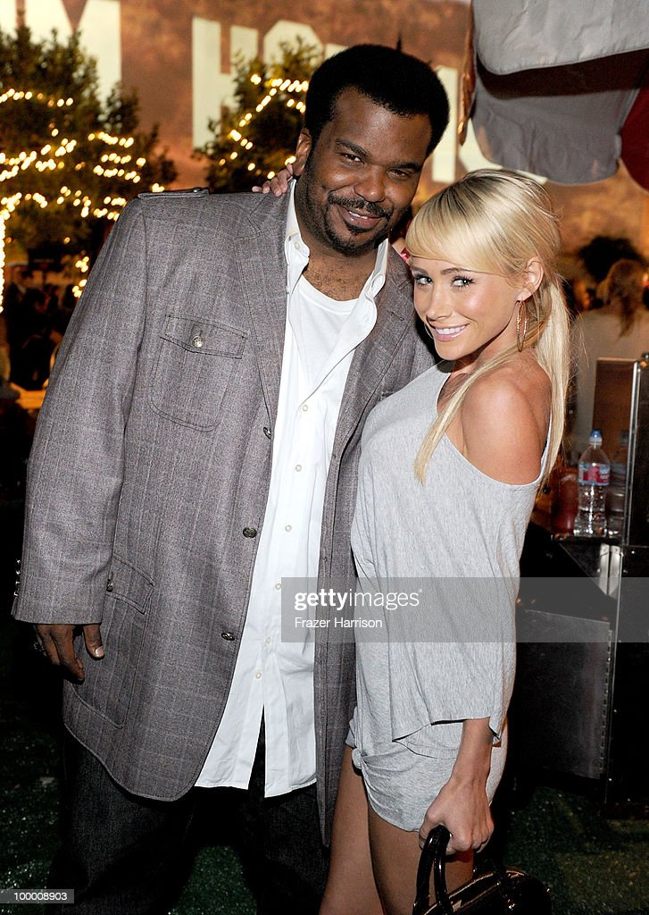 Actor Craig Robinson (L) and guest attend the 11th annual Maxim Hot 100 Party with Harley-Davidson, ABSOLUT VODKA, Ed Hardy Fragrances, and ROGAINE held at Paramount Studios on May 19, 2010 in Los Angeles, California.
