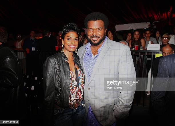 Actor Craig Robinson and guest attend the B Riley Co and Sugar Ray Leonard Foundation's 5th Annual Big Fighters Big Cause Charity Boxing Night at the...