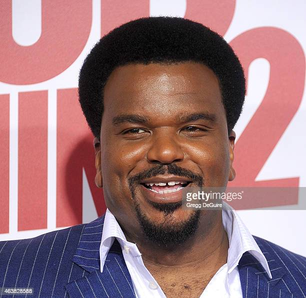 Actor Craig Robinson arrives at the Los Angeles premiere of 'Hot Tub Time Machine 2' at Regency Village Theatre on February 18 2015 in Westwood...