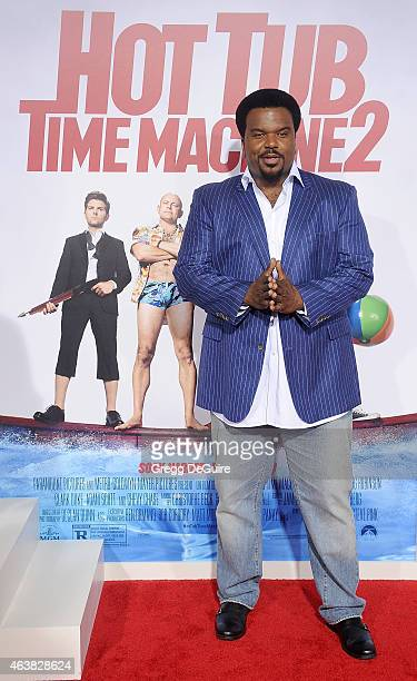 Actor Craig Robinson arrives at the Los Angeles premiere of Hot Tub Time Machine 2 at Regency Village Theatre on February 18 2015 in Westwood...