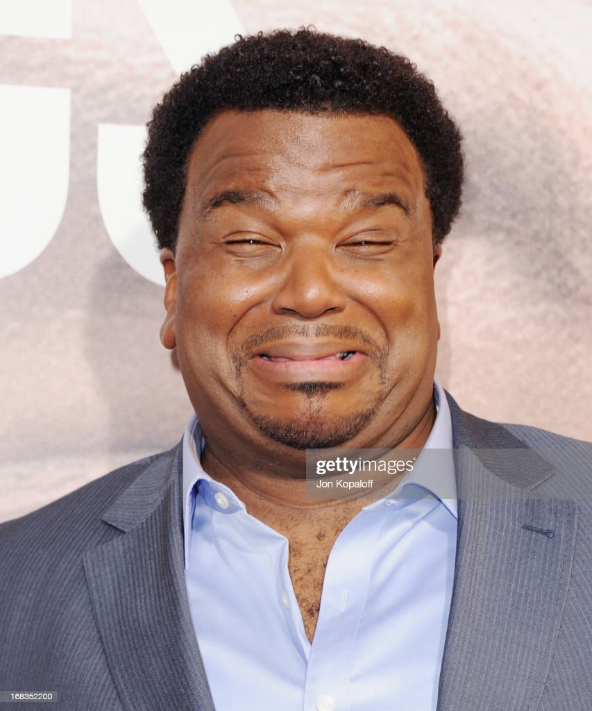 Actor Craig Robinson arrives at the Los Angeles Premiere 'Peeples' at ArcLight Hollywood on May 8, 2013 in Hollywood, California.