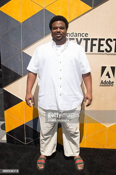 Actor Craig Robinson arrives at the Sundance Next Fest premiere of 'Morris From America' at The Theatre At The Ace Hotel on August 13 2016 in Los...