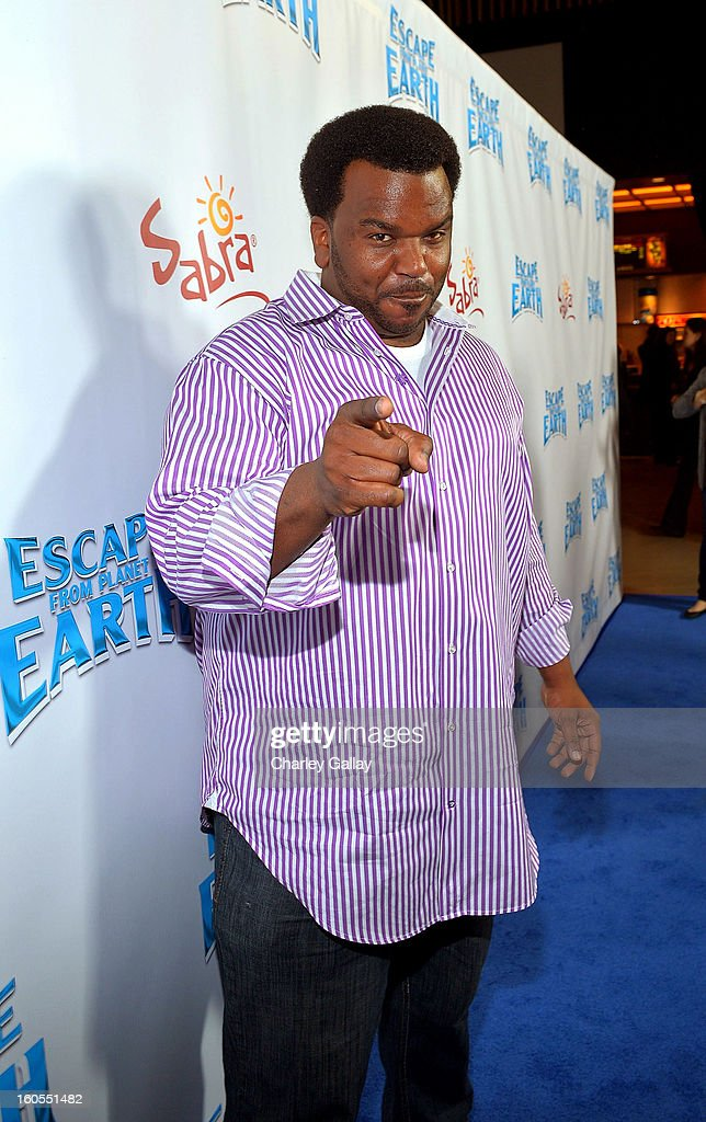 Actor Craig Robinson attends the 'Escape From Planet Earth' premiere presented by The Weinstein Company in partnership with Sabra at Mann Chinese 6 on February 2, 2013 in Los Angeles, California.