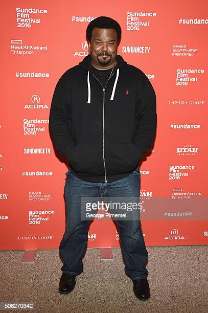Actor Craig Robinson attends the 'Morris From America' Premiere during the 2016 Sundance Film Festival at Eccles Center Theatre on January 22 2016 in...