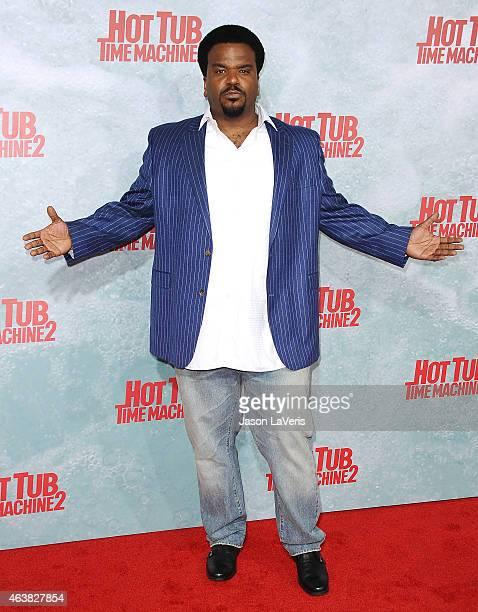 Actor Craig Robinson attends the premiere of Hot Tub Time Machine 2 at Regency Village Theatre on February 18 2015 in Westwood California