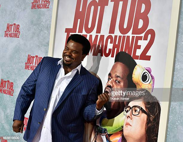Actor Craig Robinson attends the premiere of Paramount Pictures' 'Hot Tub Time Machine 2' at Regency Village Theatre on February 18 2015 in Westwood...