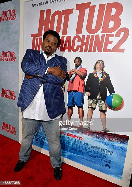 Actor Craig Robinson attends the premiere of Paramount Pictures' 'Hot Tub Time Machine 2' at Regency Village That Regency Village Theatre on February...