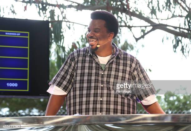 Actor Craig Robinson speaks at Food Fight Marlowe vs Park Tavern at the GastroMagic Stage during day 3 of the 2014 Outside Lands Music and Arts...