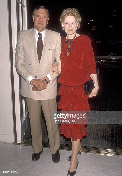 Actor Craig Stevens and actress Alexis Smith attend the American Cinema Awards Foundation Hosts Senator George Murphy's 88th Birthday Party/65th...