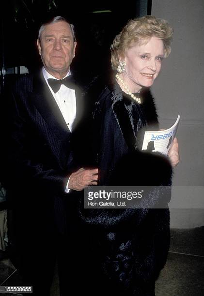 Actor Craig Stevens and actress Alexis Smith attends the Seventh Annual American Cinema Awards on January 27 1990 at Beverly Hilton Hotel in Beverly...