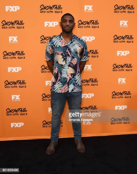Actor Craig Tate arrives at the premiere of FX's 'Snowfall' at The Theatre at Ace Hotel on June 26 2017 in Los Angeles California