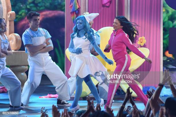 Actor Cree Cicchino dances on stage at the 30th Annual Nickelodeon Kids' Choice Awards March 11 at the Galen Center on the University of Southern...