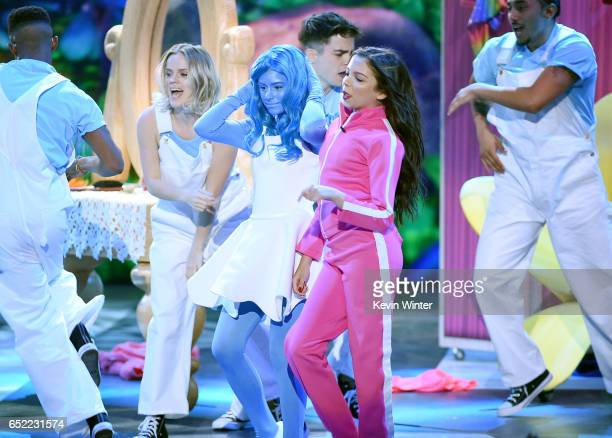 Actor Cree Cicchino dances onstage at Nickelodeon's 2017 Kids' Choice Awards at USC Galen Center on March 11 2017 in Los Angeles California