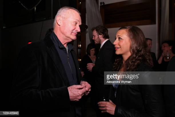 Actor Creed Bratton and actress Rashida Jones attend the premiere of NBC's Parks Recreation hosted by Kahlua held at My House on April 9 2009 in Los...