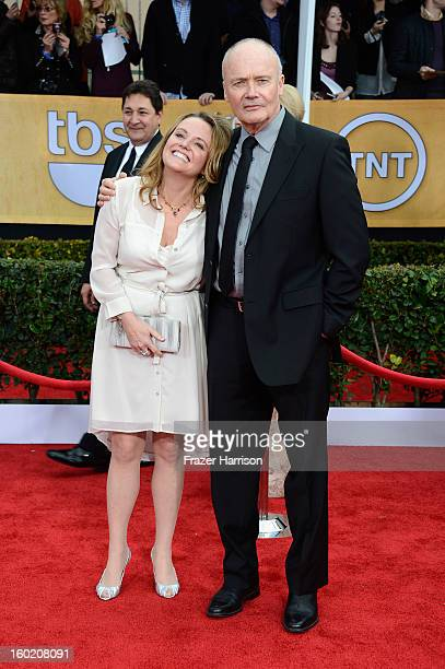Actor Creed Bratton and guest arrive at the 19th Annual Screen Actors Guild Awards held at The Shrine Auditorium on January 27, 2013 in Los Angeles,...