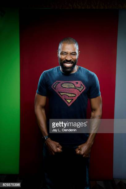 Actor Cress Williams from the television series 'Black Lightning' is photographed in the LA Times photo studio at ComicCon 2017 in San Diego CA on...