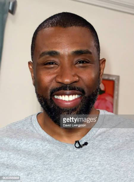 Actor Cress Williams visits Hallmark's 'Home Family' at Universal Studios Hollywood on January 15 2018 in Universal City California