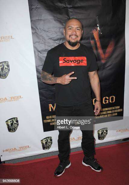 Actor Crispin Alapag arrives for the Los Angeles Premiere of 'Miles To Go' held at Writers Guild Theater on April 5 2018 in Beverly Hills California