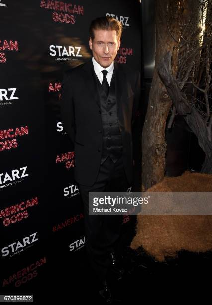 Actor Crispin Glover attends the American Gods premiere at ArcLight Hollywood on April 20 2017 in Los Angeles California