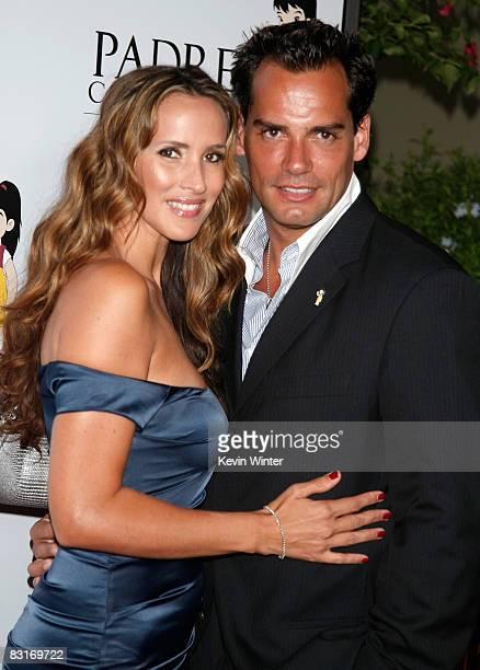 Actor Cristian de la Fuente and actress Angelica Castro arrive at the Padres Contra El Cancer's 8th Annual 'El Sueno De Esperanza' at the Hollywood...