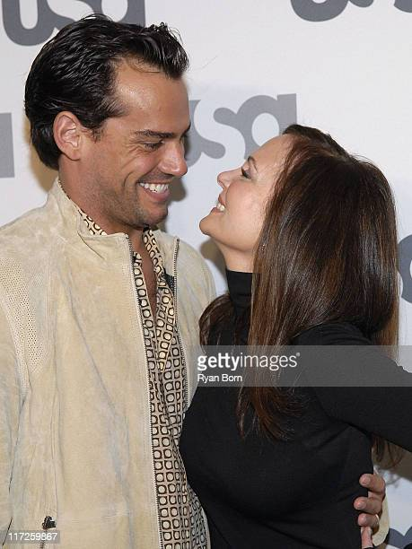 Actor Cristian De La Fuente and Actress Lesley Ann Warren arrive at Characters Welcome USA Network celebrates it's Lineup of Stars on April 3 2008 at...