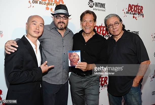 Actor CS Lee actor David Zayas actor James Remar and actor Edward James Olmos arrive at Showtime's Dexter The Complete 5th Season DVD Release Party...