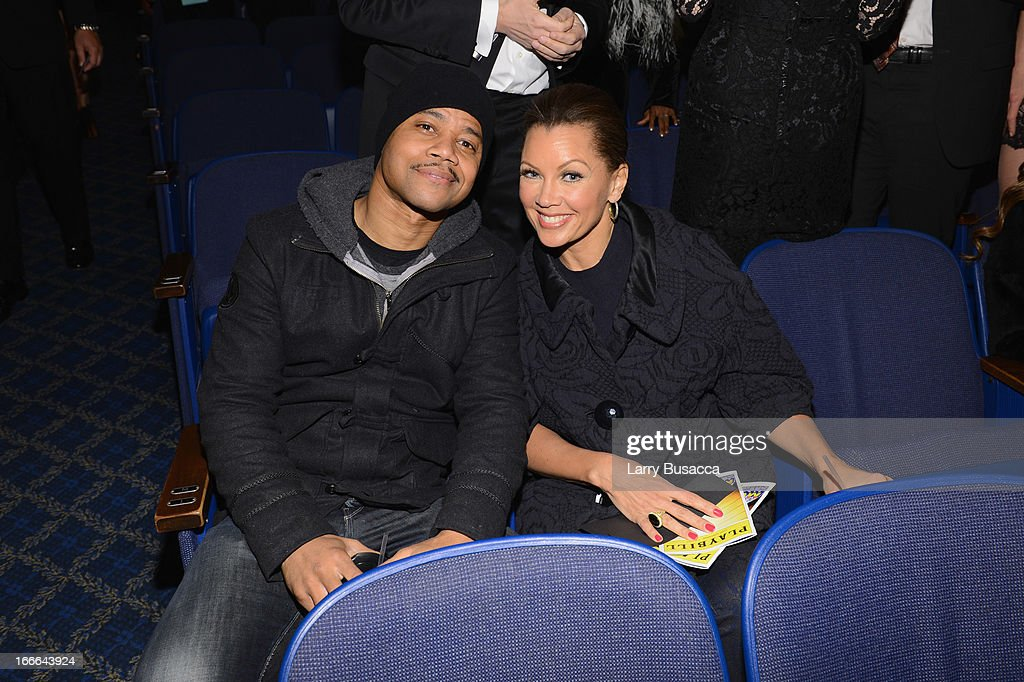 Actor Cuba Gooding Jr and actress Vanessa L. Williams attend 'Motown: The Musical' Opening Night at Lunt-Fontanne Theatre on April 14, 2013 in New York City.