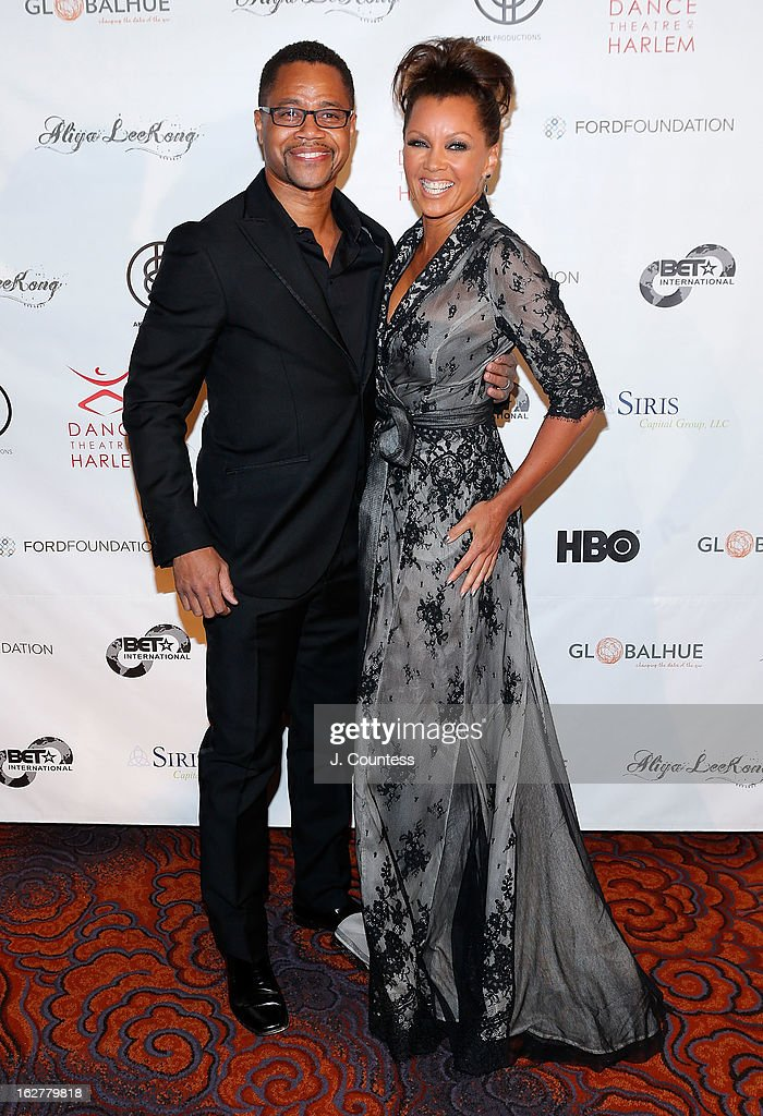 Actor Cuba Gooding Jr. and actress/singer Vanessa Williams attend the Dance Theatre Of Harlem's 44th Anniversary Celebration at Mandarin Oriental Hotel on February 26, 2013 in New York City.