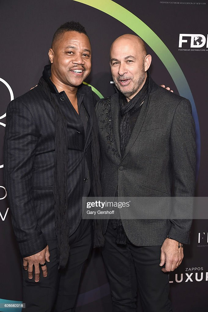 Actor Cuba Gooding Jr. (L) and event honoree John Varvatos attend the 30th FN Achievement awards at IAC Headquarters on November 29, 2016 in New York City.