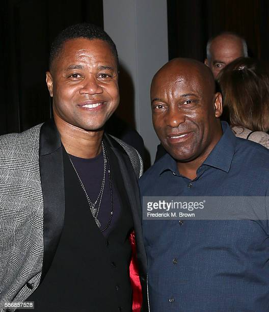 Actor Cuba Gooding Jr and filmmaker John Singleton attend the 32nd annual Television Critics Association Awards during the 2016 Television Critics...